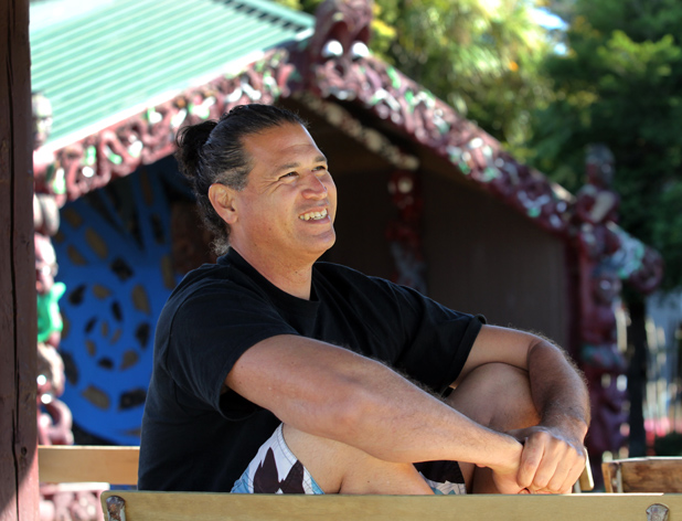 NZ HONOUR: Hawaiian scholar and Waikato University student Keao NeSmith has returned to Hamilton for a lu'au in a city marae to celebrate his graduation.