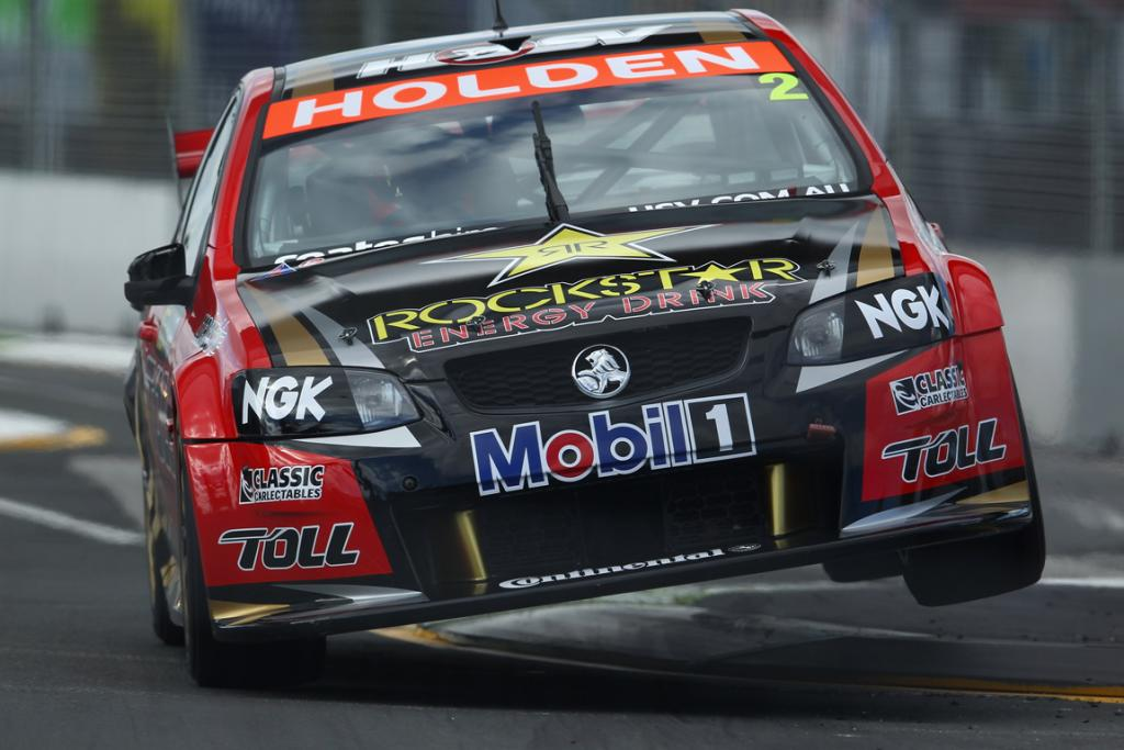 Garth Tander in action in the top 10 shootout.