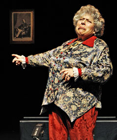 Miriam Margolyes performs her one-woman show.