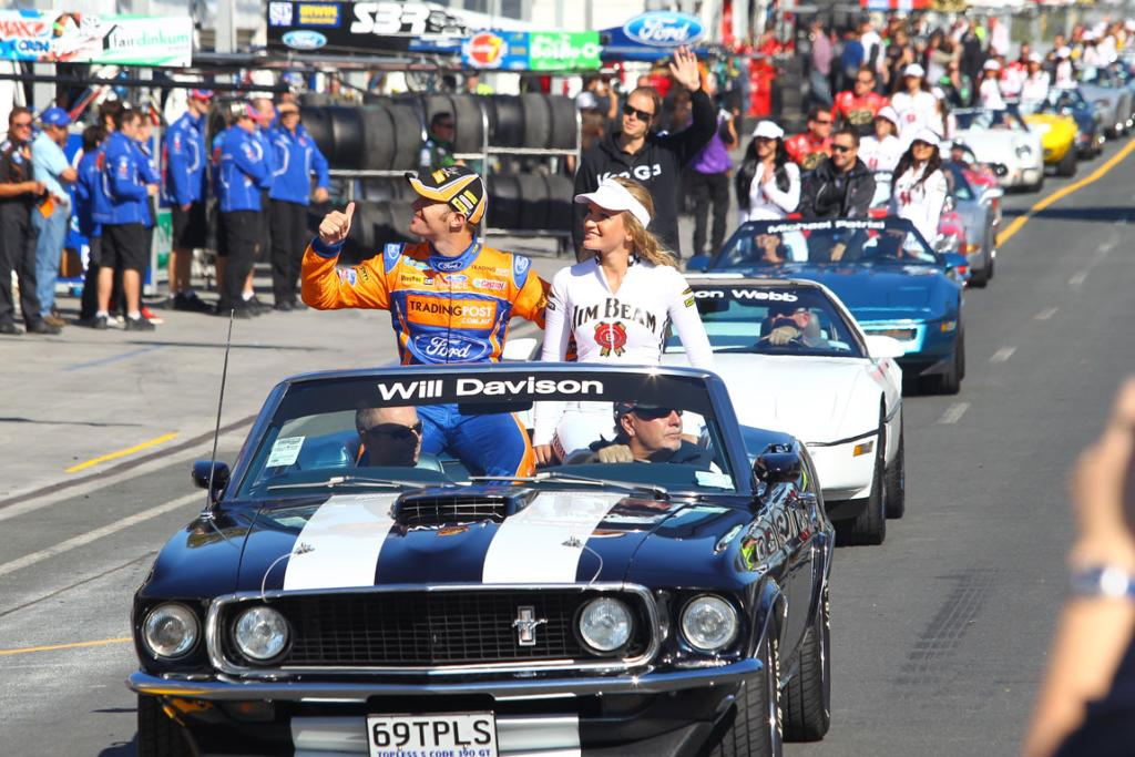 Will Davison during the V8 driver's parade.