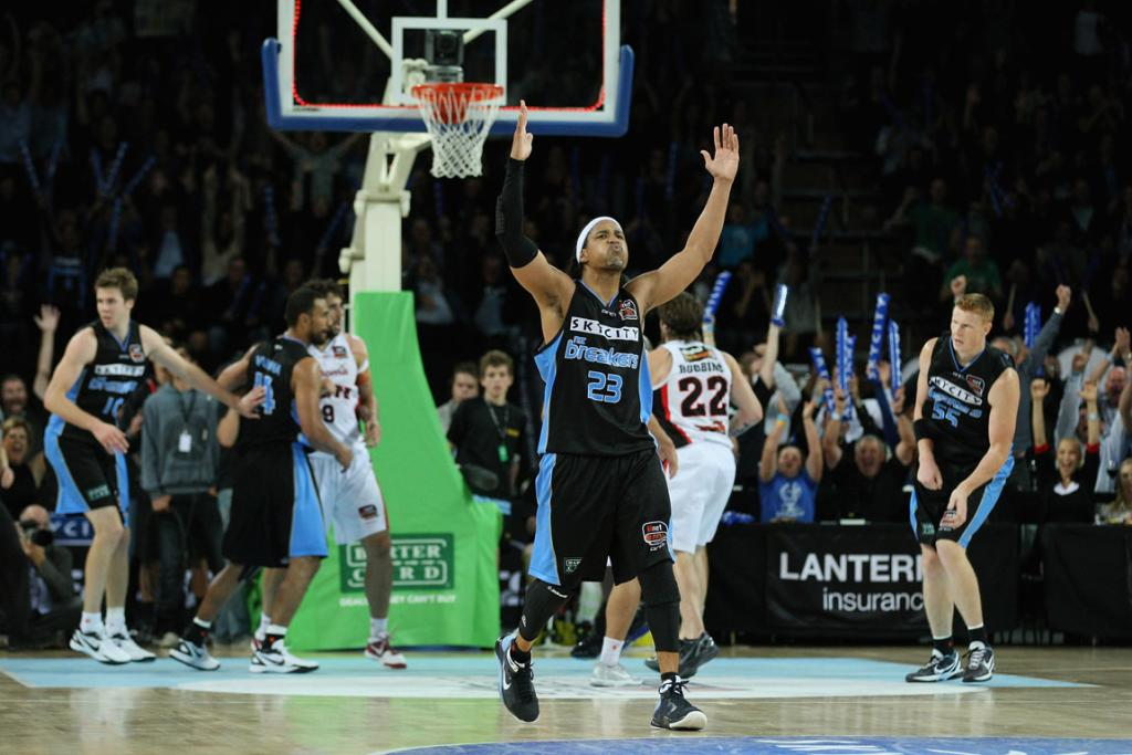 CJ Bruton gets the crowd going after hitting a three pointer in the grand finals decider.