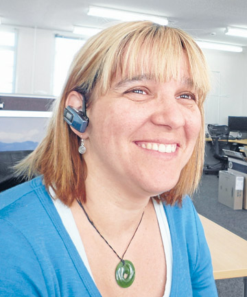 Hearing piece: Marina Gomes, director of Mprove IT, reckons her Plantronics 360 Bluetooth earpiece is pretty special.