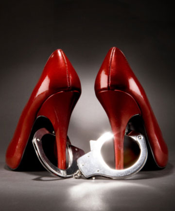 handcuffs and stilettos