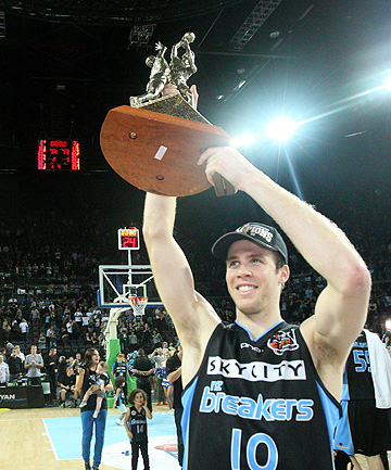 PERFECT 10: Tom Abercrombie's rise with the NZ Breakers has seen the young Tall Blacks forward ranked a 10-point player in the Australia NBL's latest player points rankings.