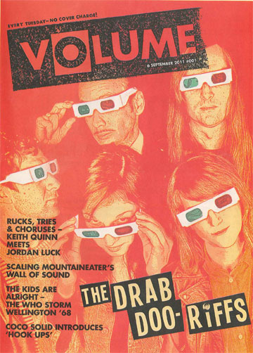 SAD GOODBYE: The very first issue of Volume magazine, printed in September 2011, featured The Drab Doo-Riffs.