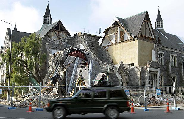 NEO-GOTHIC: The heritage building suffered further significant damage in the February earthquake.