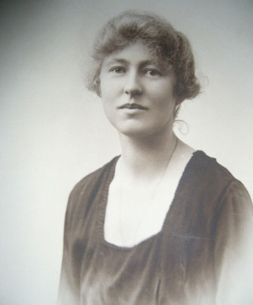PUZZLE PIECE: Enid Sheppard, fiancee of Major Victor Rogers and later to become Mrs Enid White.