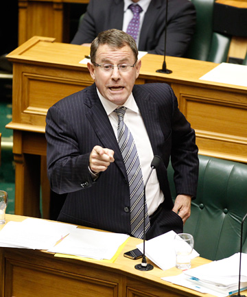 FIRING LINE: John Banks faces questions in Parliament.