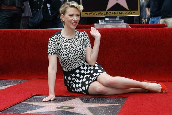 A star for Scarlett Johansson