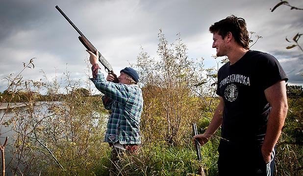 GET YOUR EYE IN: Duck-hunting season opens tomorrow and there is an outdoor larder full of waterfowl that could be destined for Jerry and Russell Tocker's pot.