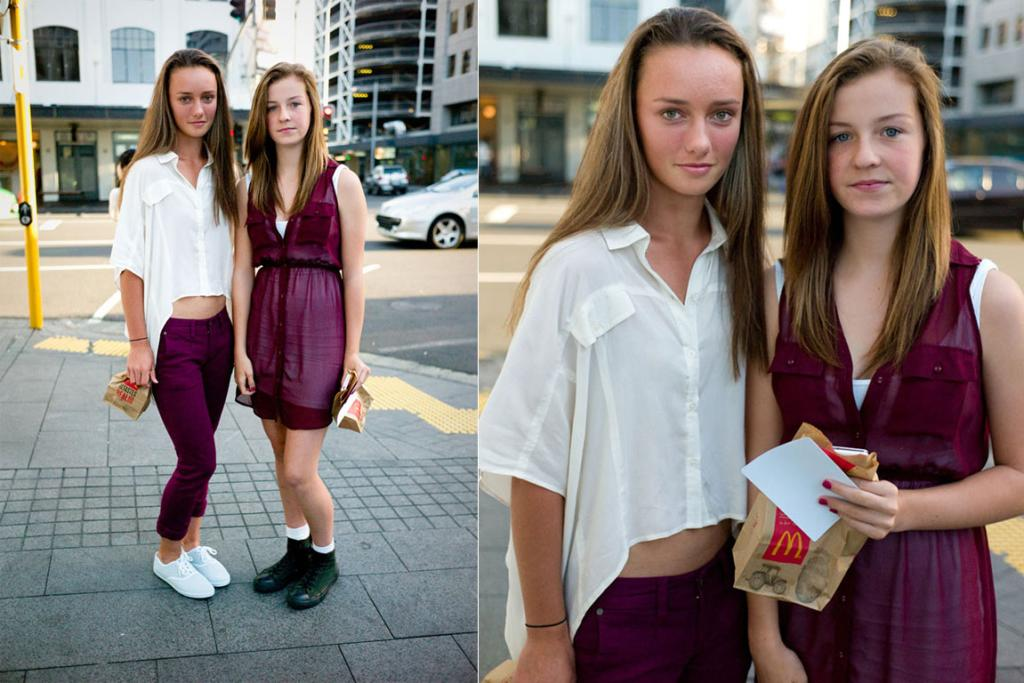 Caitlin and Sam, photographed in downtown Auckland.