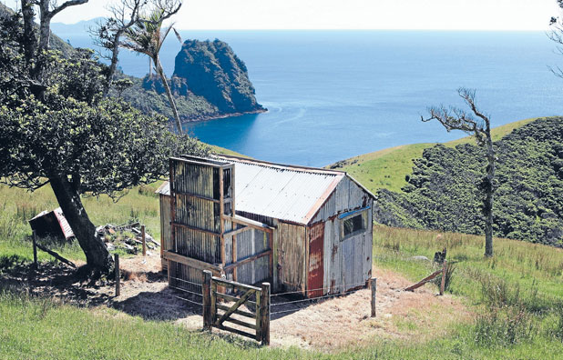 NO FRILLS: The old corrugated iron hut on the Stony Bay-Fletcher Bay walkway is pretty basic.