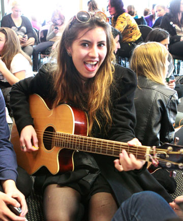 Amber-Rose Walters, 15, of Papanui High School sang an original song for the judges.