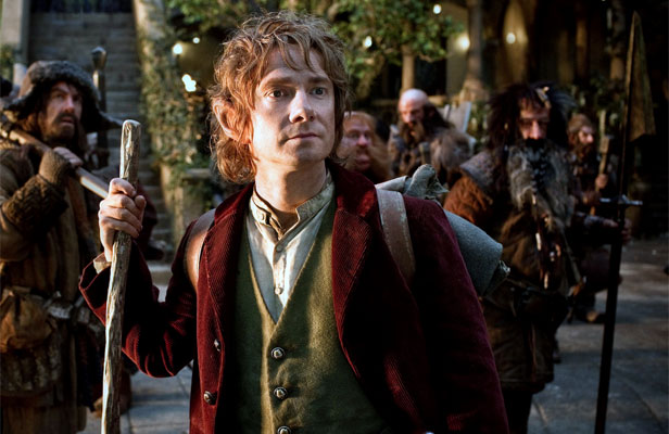 THE ROAD GOES EVER ON: Martin Freeman as Bilbo during shooting of The Hobbit.
