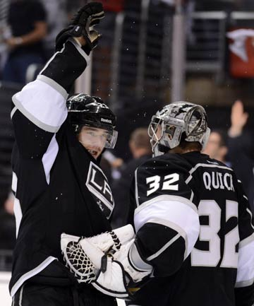 Dustin Brown and Jonathan Quick