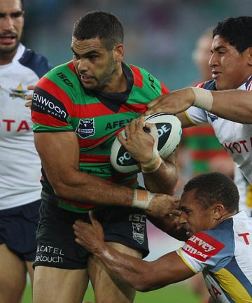 HAT-TRICK HERO: Three tries from Greg Inglis helped South Sydney to a thrilling 34-28 win over Cronulla.
