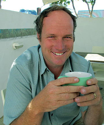 VOTING VICTORY: Paul Walden has a cuppa and reflects on his landslide win in the Waiheke Local Board by-election.