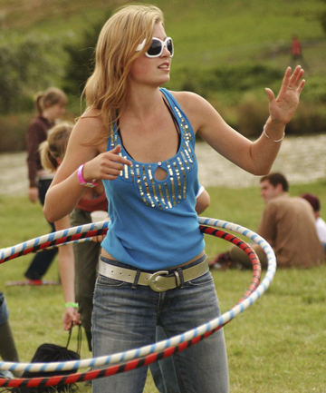 CIRCLE OF LIFE: Hula hooping is a fun way to get some exercise.
