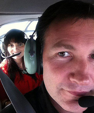 HIGH HOPES: Scott Rodgers asked Kate Goodwin to marry him while flying over their house.