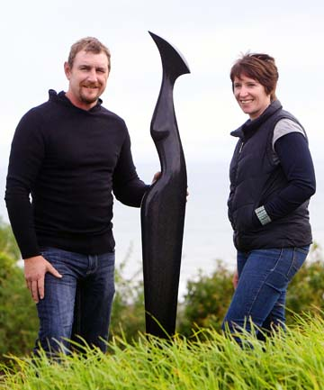 SHAPING LIFE: Auckland sculptors Steve Molloy and Anna Korver have moved to Taranaki after finding the province's lifestyle irresistible.