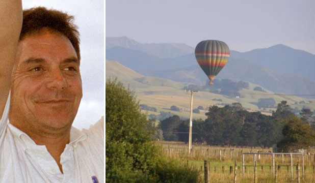 TRAGEDY: An interim report has found that balloon pilot Lance Hopping had cannabis in his system when he crashed, killing all 11 people on board. RIGHT: The balloon only moments before it crashed.