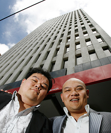 BIG PLANS: John Chow, left, and his brother Michael.