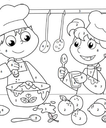 kids coloring pages cooking - photo#37