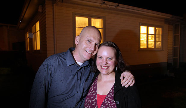 HEADS ABOVE WATER: Matt and Catherine Johnston have a mixture of floating and fixed rate loans on their Wainuiomata house.