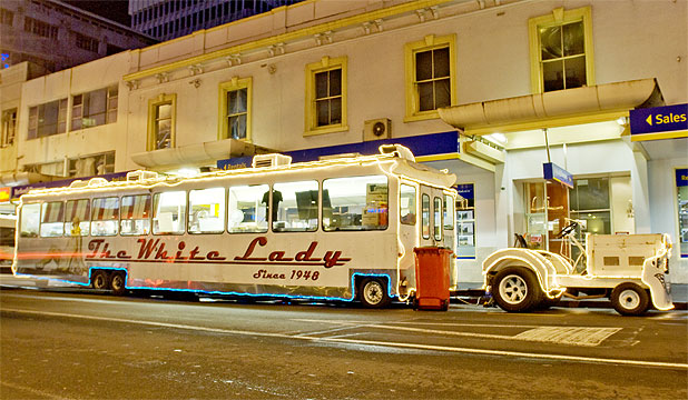 FANCY FEAST: Auckland's iconic late-night food stop, The White Lady, will offer fine dining for a night.
