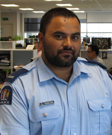 Prevention focused: Counties Manukau South Asian liaison officer Gurpreet Arora wants people to take precautions to prevent jewellery theft.