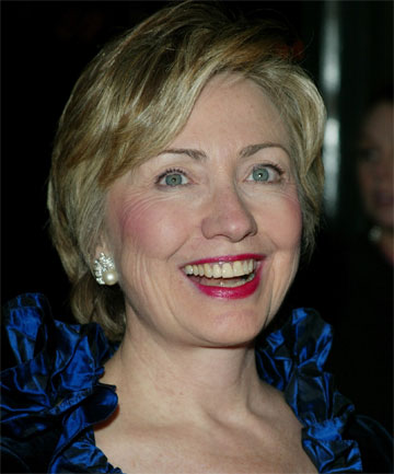 FIRST LADY OF COSMETICS: Clinton used to spend 90 minutes a day applying makeup.