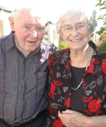 Love match: The late MP Trevor Young, pictured in February this year when he and his wife Ailsa marked their Diamond wedding anniversary.