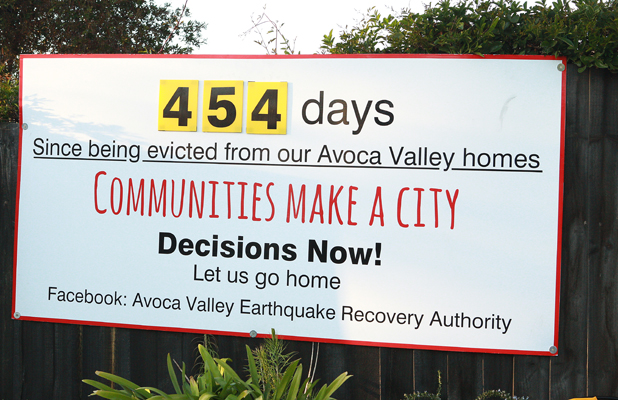 Avoca Valley protest