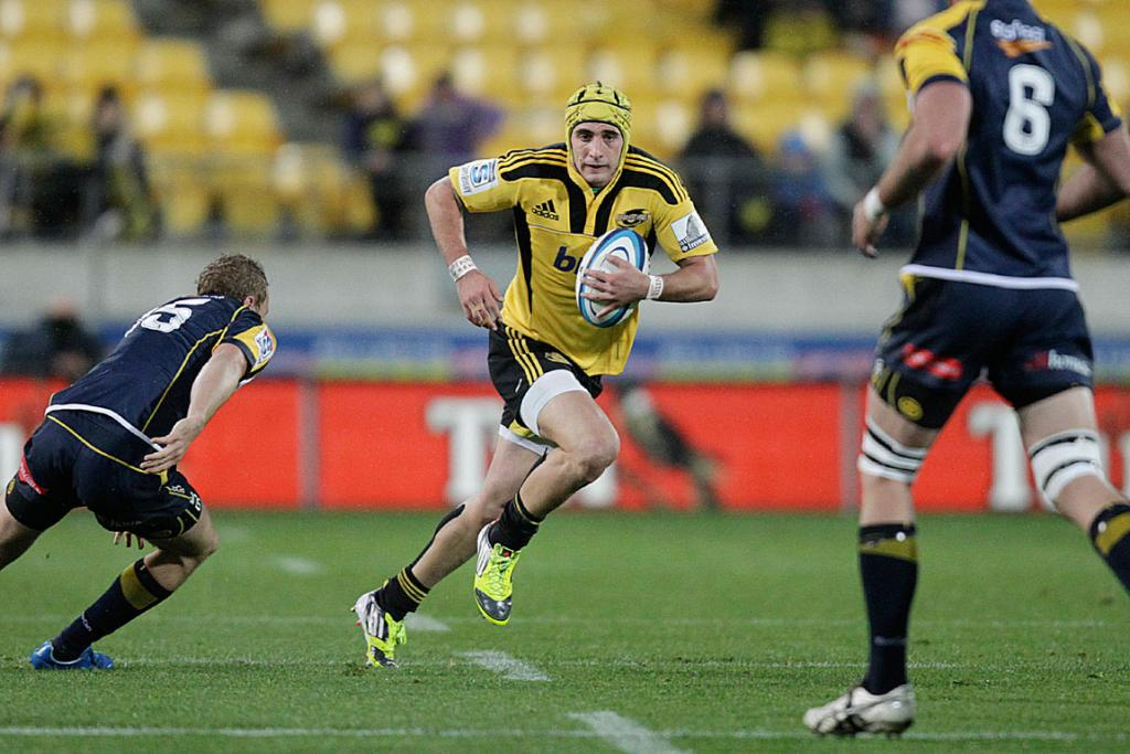 Andre Taylor in action against the Brumbies at Westpac Stadium.