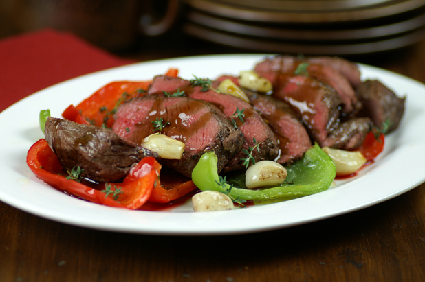 Winter warmer: Roasted venison with smoked garlic