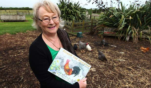 COCKY CHARACTER: Robyn Murray's new picture book about a renegade rooster at Ambury Park is based on a true story.
