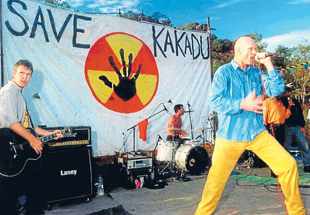 On May 30 in 1990, Ocker rockers Midnight Oil, pictured, closed down 6th Avenue in New York City as they played a protest concert in front of Exxon's offices in protest at the Exxon Valdez disaster.