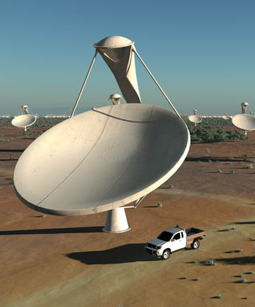 WORLD'S LARGEST: The Square Kilometre Array will be spread across three countries and made up of 3000 dishes.