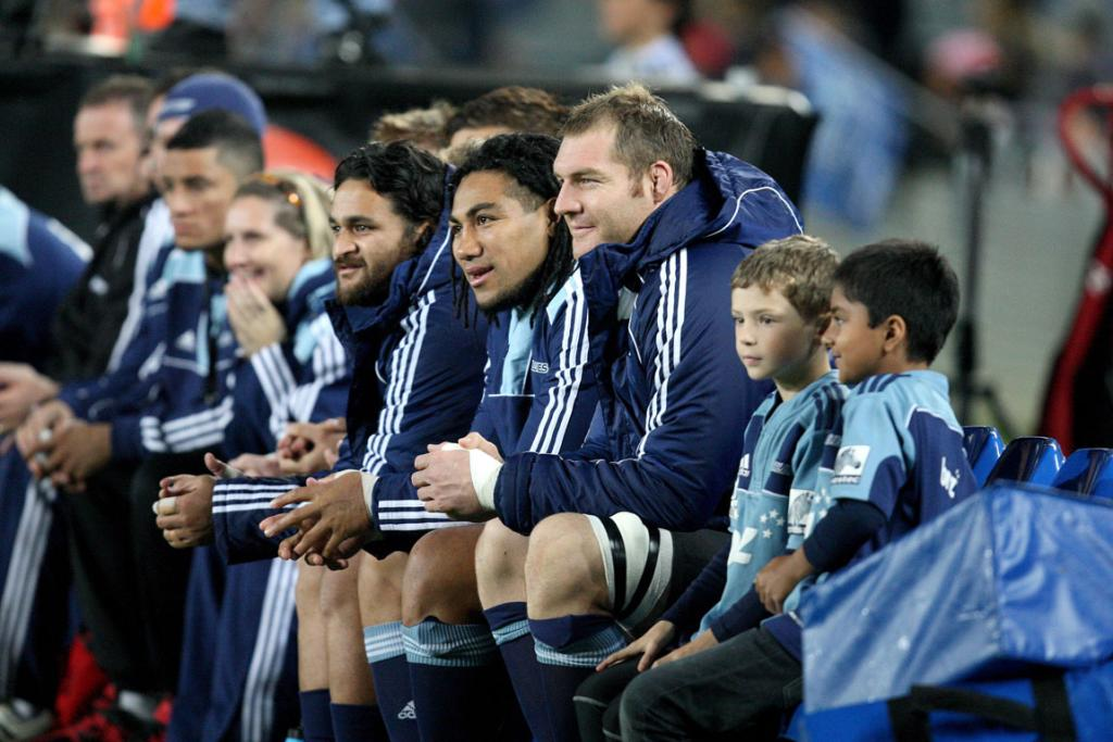 Blues reserves Piri Weepu, Ma'a Nonu and Ali Williams on the bench against the Highlanders.
