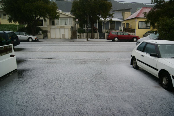 Wellington hail storm