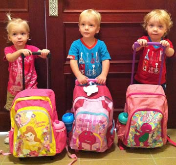 Weekes triplets - Lillie, Jackson and Willsher