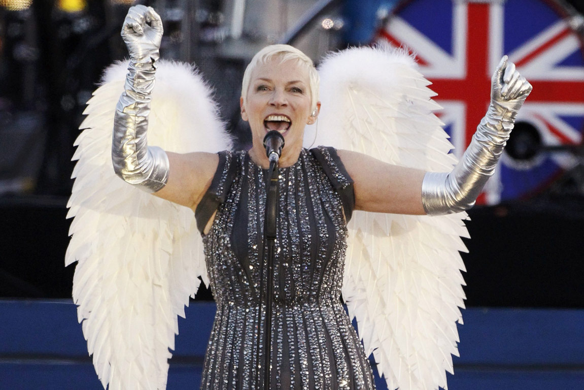 Singer Annie Lennox performs during the Diamond Jubilee concert in front of Buckingham Palace in London.