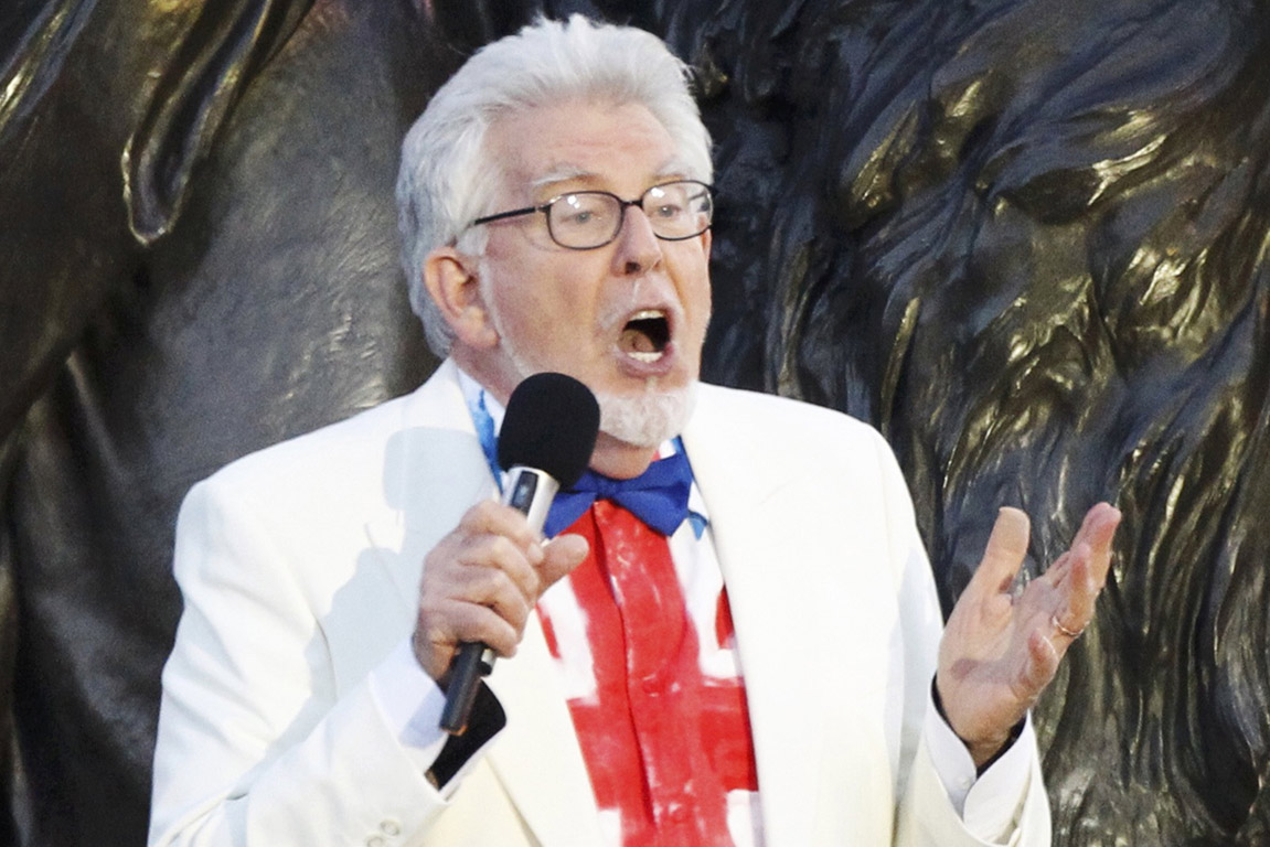 Australian musician Rolf Harris performs on stage during the Diamond Jubilee concert at Buckingham Palace in London.