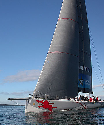 EXPERIENCED CREW: The Beau Geste at the start of the Auckland to Noumea yacht race on Saturday.