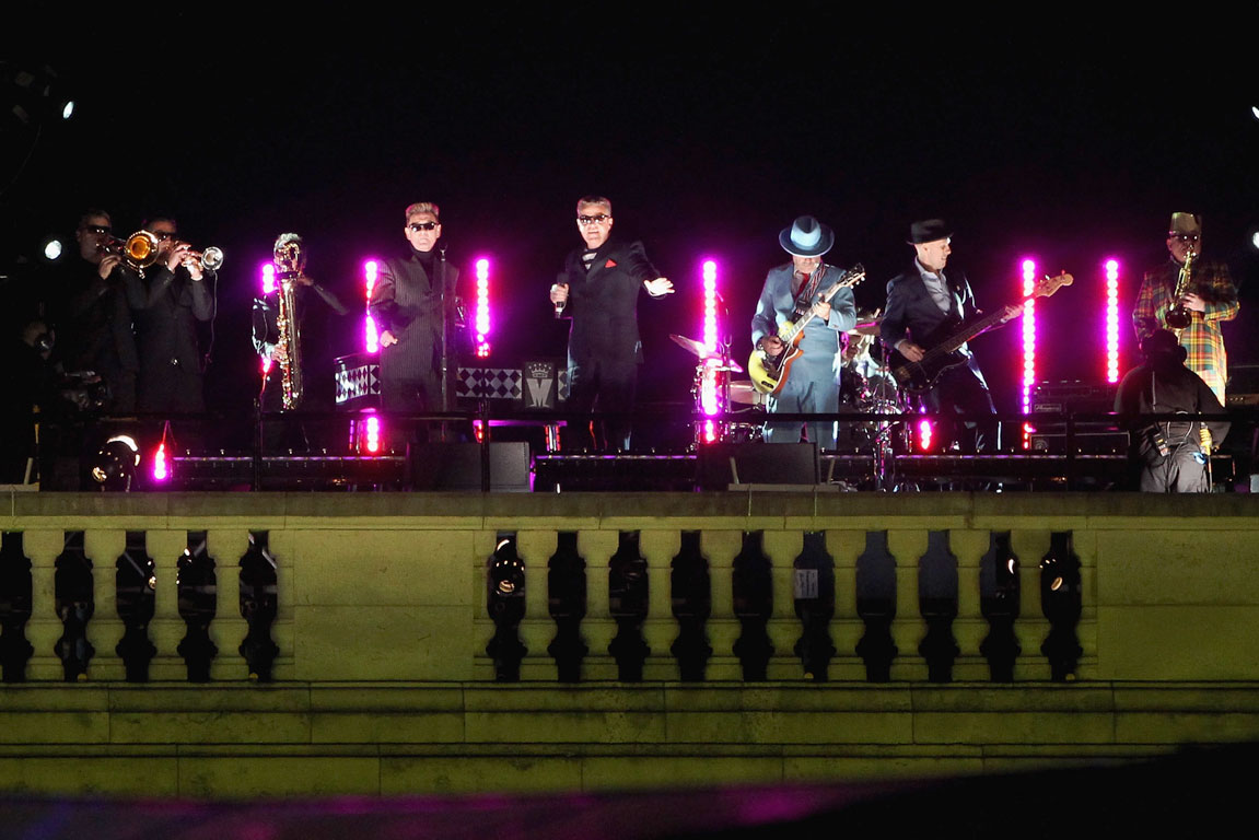 Madness perform Our House from atop Buckingham Palace during the Queen Elizabeth's Diamond Jubilee concert in London.