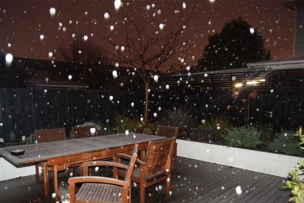 Snow in Christchurch.