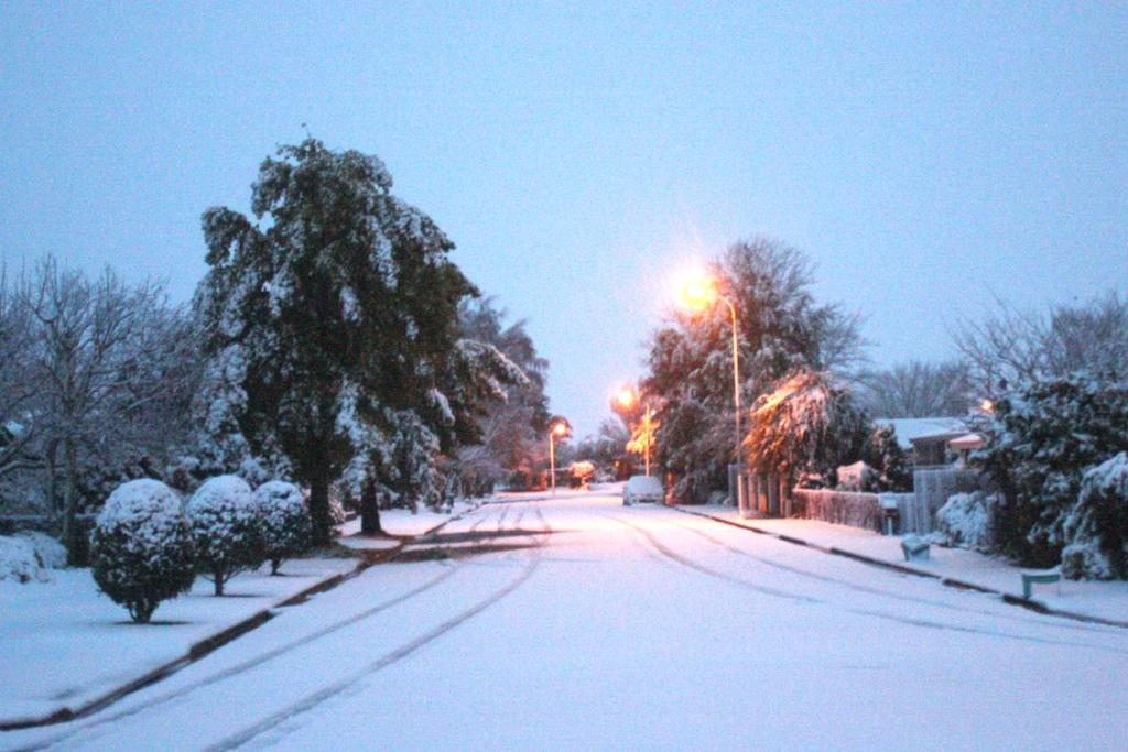 Snow in Woodham Drive, Ashburton.