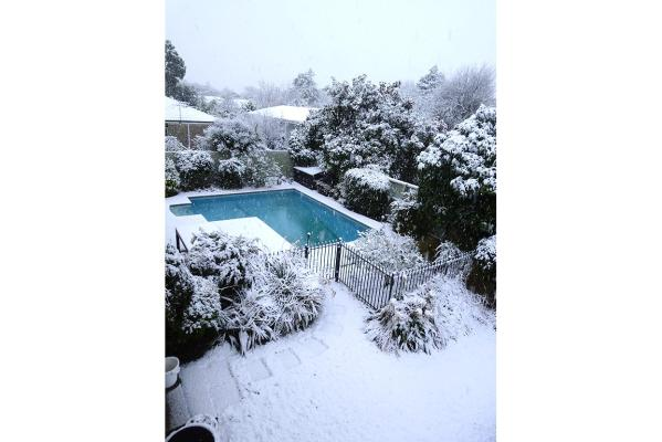Snow in Burnside, Christchurch.