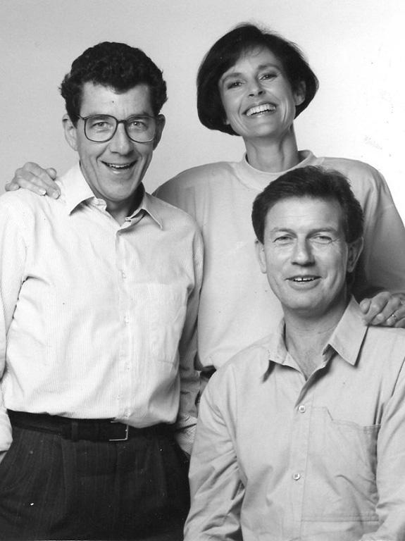 Paul Holmes, Judy Bailey and John Hawkesby hosted the 1990 Telethon.