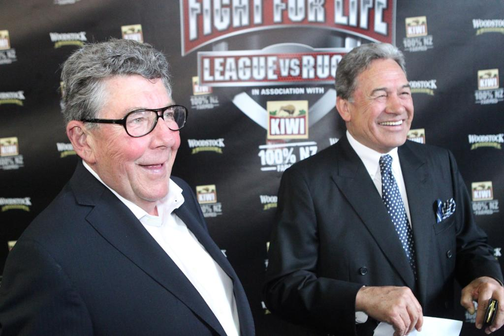 Paul Holmes with Winston Peters.